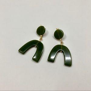 Madewell Green Statement Earrings